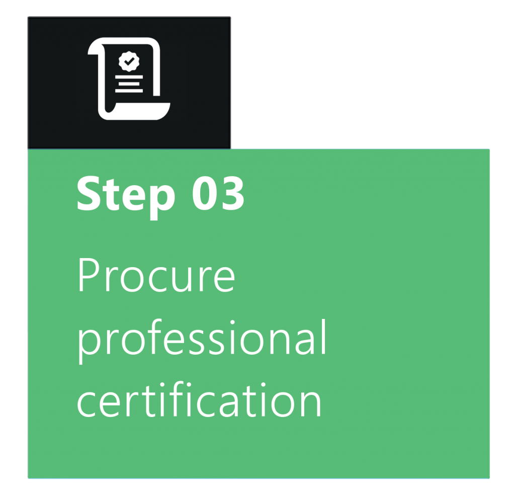 Procure professional certification