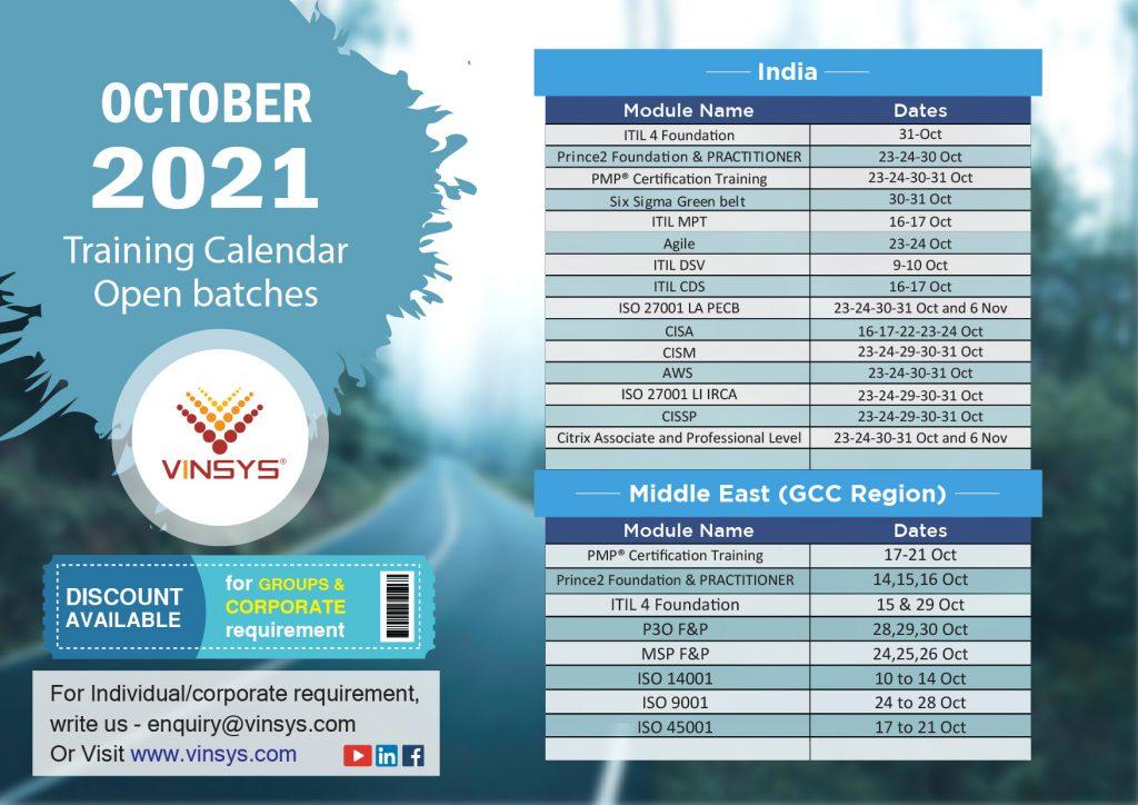 Oct Month 21 Calendar